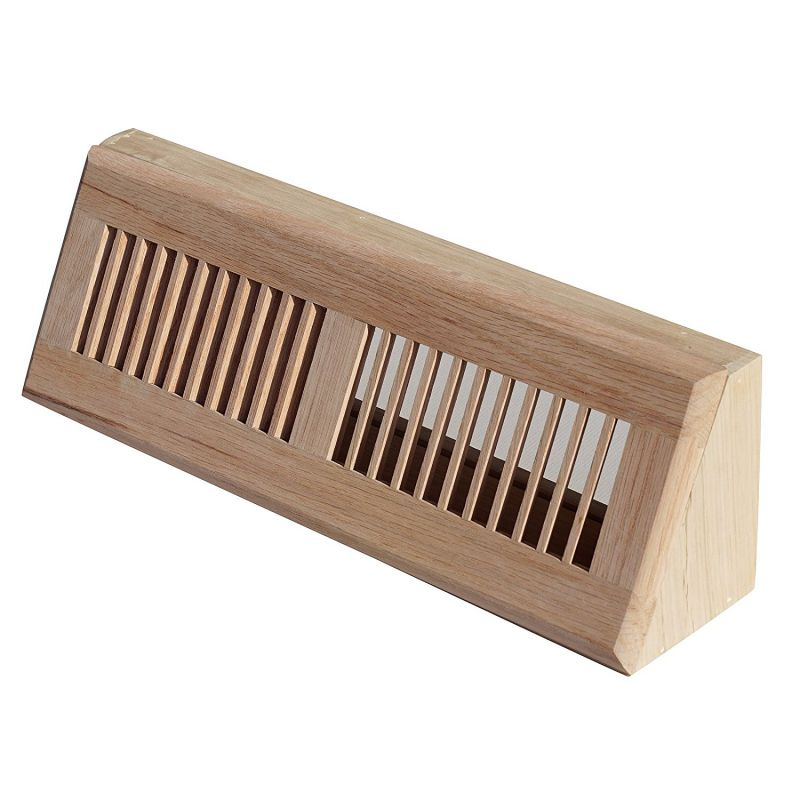 WELLAND Red Oak Baseboard Diffuser Wood Vent Register