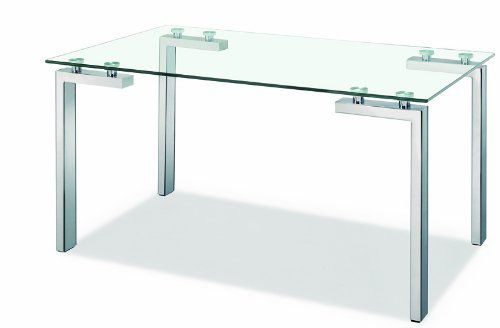 Zuo Roca Dining Table, Stainless Steel desks