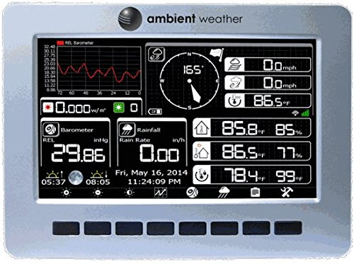 Ambient Weather WS-1001-WIFI OBSERVER Solar Powered Wireless WiFi Remote Monitoring Weather Station with Solar Radiation and UV