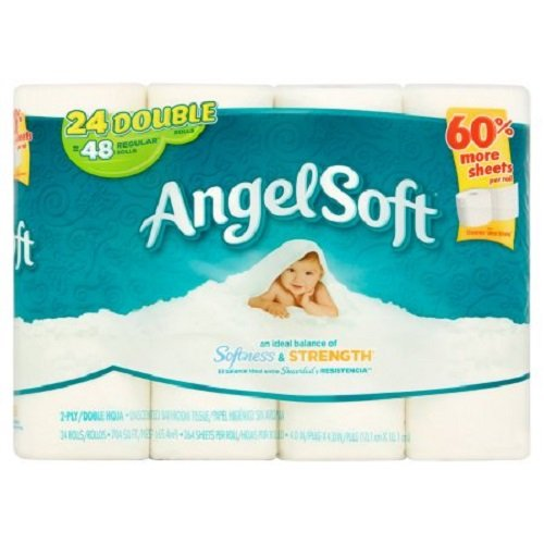 Angel Soft Toilet Paper, 24 Double Rolls | 264 Sheets Per Roll, Bath Tissue (264 Sheets Per Roll)