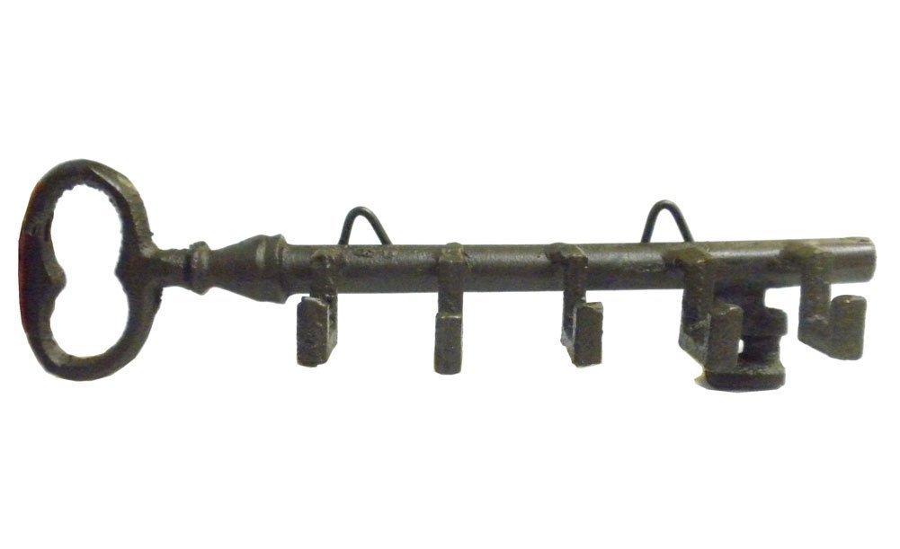 Antique Style Skeleton Key Wall Holder with Hooks