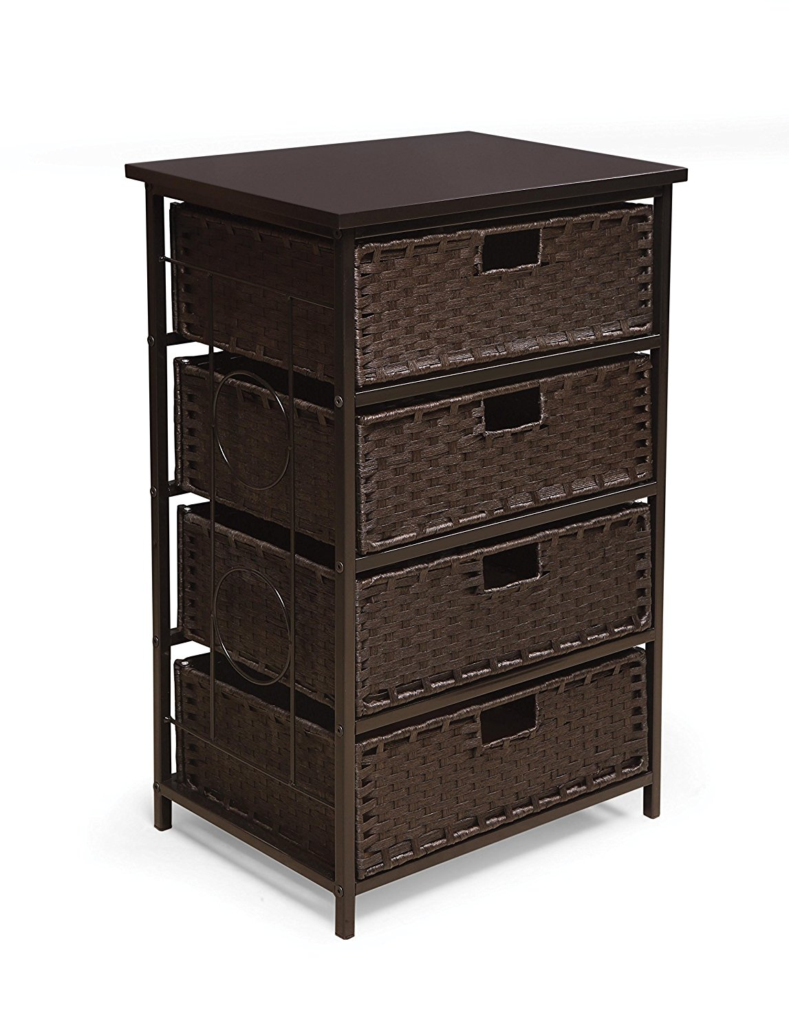 Badger Basket August Four Storage Unit, Tall Espresso