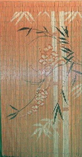 Bamboo Fifty Four 5274 Orange Scene Curtain
