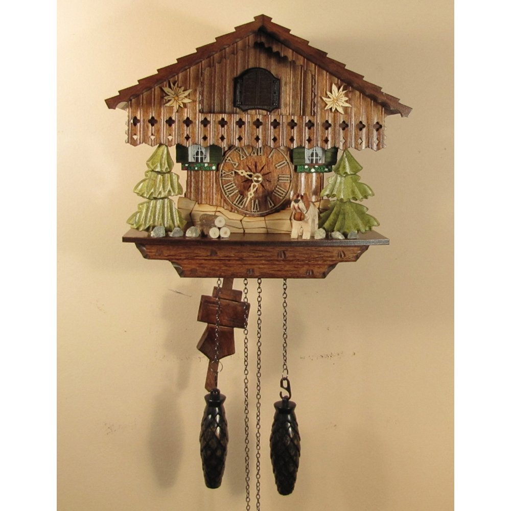 Bird and Leave Chalet Cuckoo Clock 1316QM