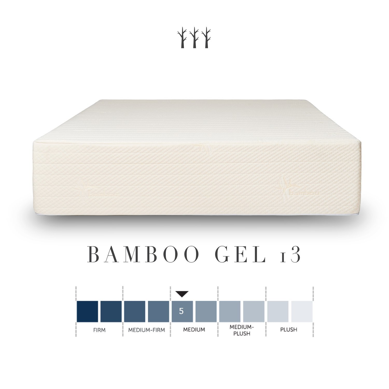 Brentwood Home Bamboo Mattress, Gel Memory Foam, 11-Inch, Cal King