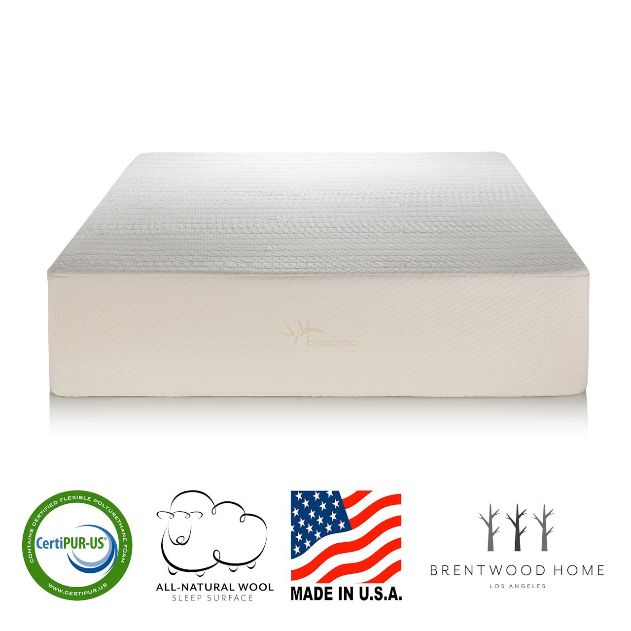 Brentwood Home Bamboo Mattress, Gel Memory Foam, 13-Inch, RV Full