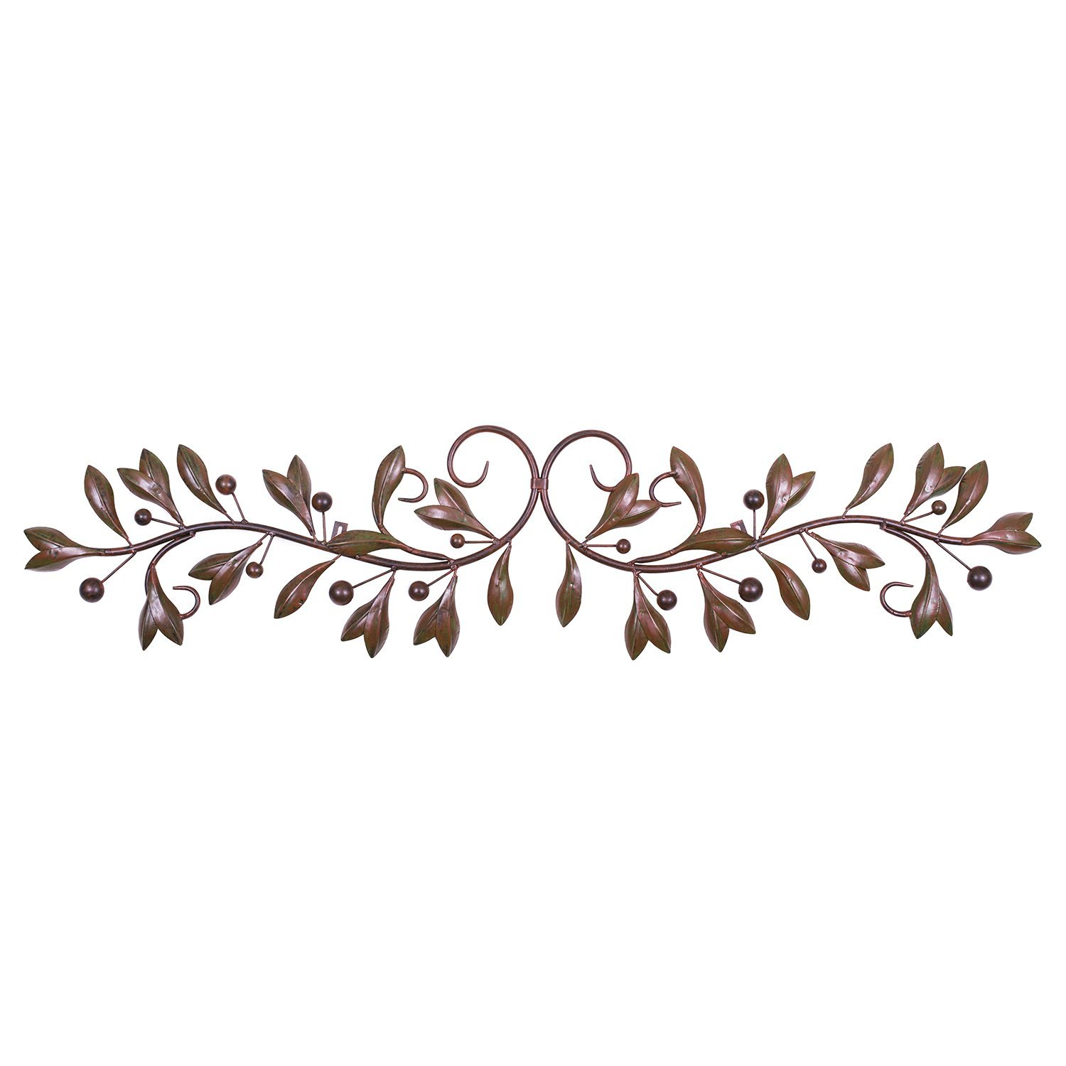 Brown Red Leaf & Beads Urban Design Metal Wall Decor for Nature Home Art Decoration & Kitchen Gifts by Super Z Outlet