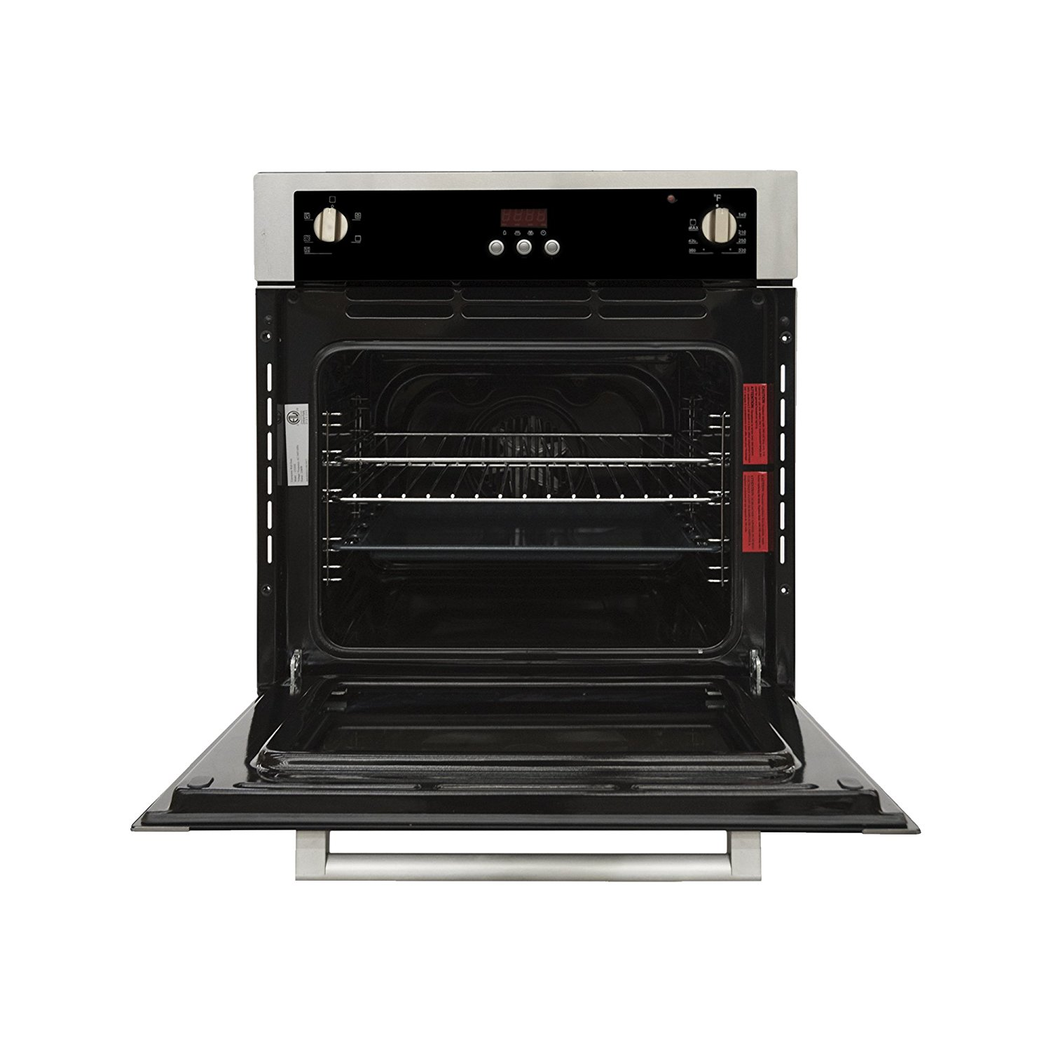 Cosmo C51EIX 24 in. Single Wall Electric Convection Oven with 5 Functions in Stainless Steel