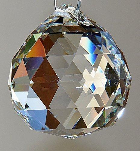 Crystal Ball Suncatcher Hanging Ornament, Chakra Rainbow Decoration, Window