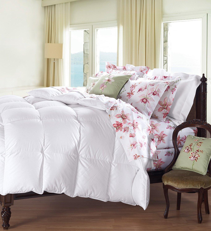 Cuddledown 800 Fill Power Batiste Down Comforter, Twin, Level 4, White