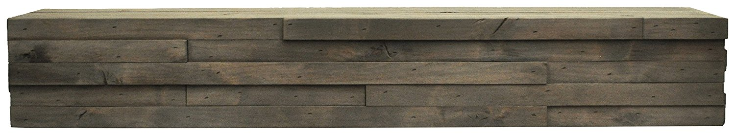 Dogberry Collections m-line-6007-slvw-none Modern Mantel Shelf, Silverwood, 60""