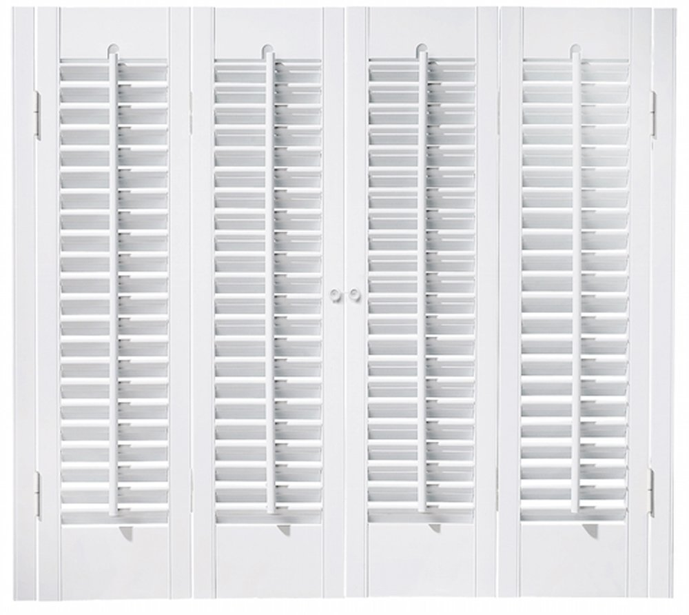 "Faux Wood DIY Traditional 1 1/4"" Interior Shutter Kits (Paint Finish White, 31-33"" W x 32"" L)"