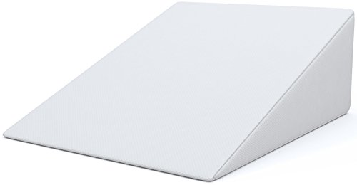FitPlus Bed Wedge Premium Pillow 1.5 Inches Memory Foam , Acid Reflux Pillow with Removable Cover Dr Recommended for Snoring and Gerd