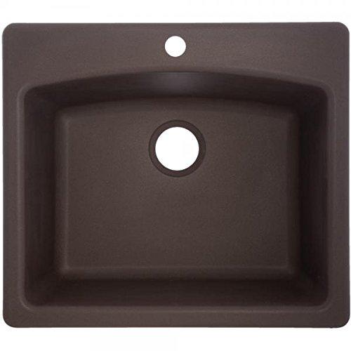 Franke ESDB25229-1 Single Bowl Sink Granite 9-Inch Deep, Mocha
