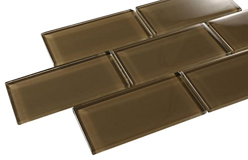 Glossy Brown Subway Glass Mosaic Tiles for Bathroom and Kitchen Walls Kitchen Backsplashes By Vogue Tile