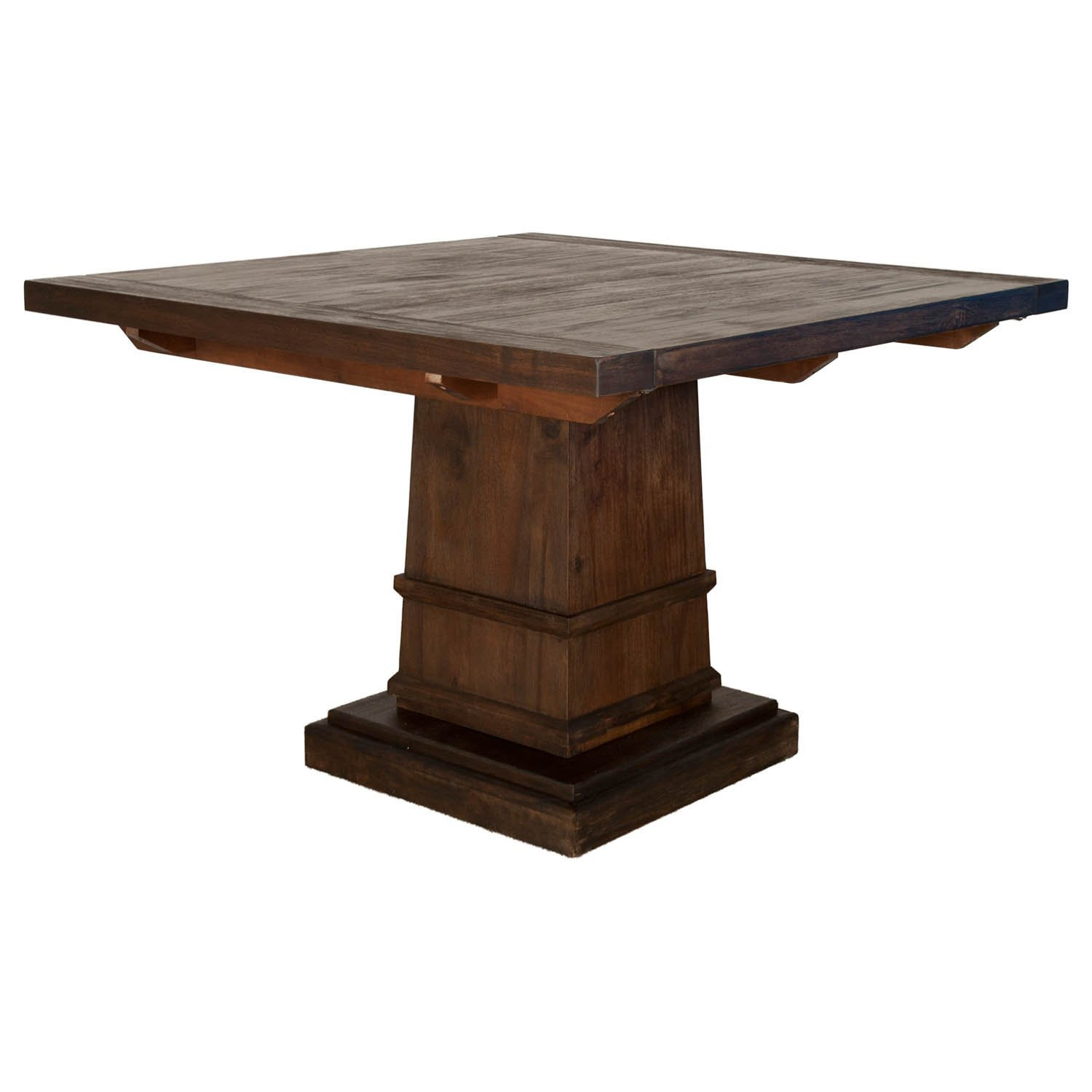 Hudson Square Extension Dining Table, Rustic Java