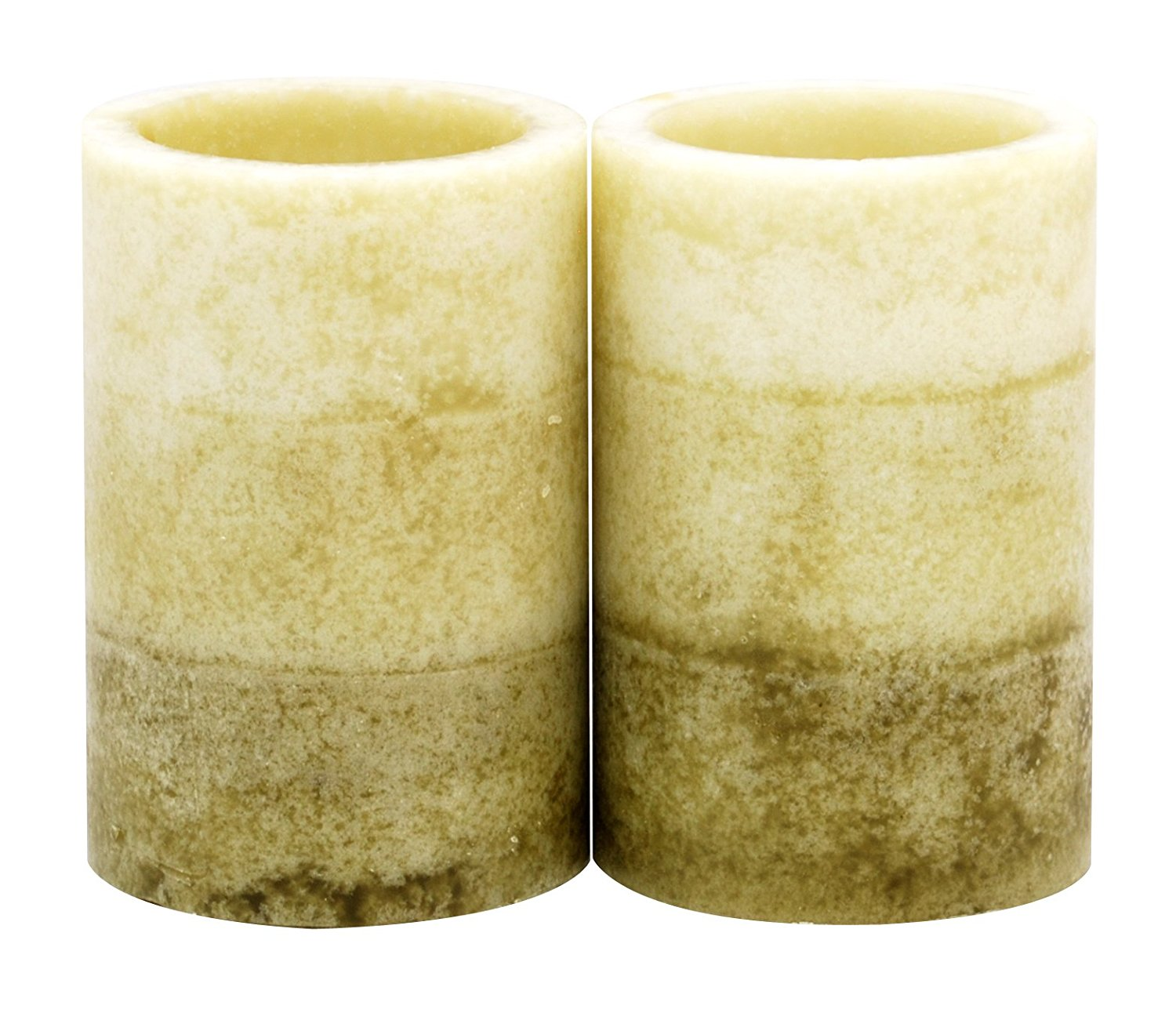 Kiera Grace 2 by 3-Inch Tri-Layer LED Pillar Candles, Mini, Citrus and Sage Fragrance, Set of 2