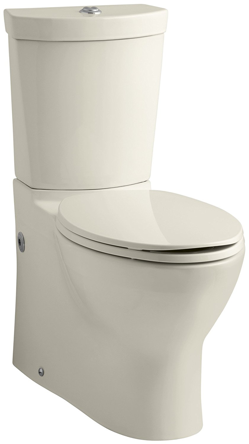 Kohler K-3654-47 Persuade Two-Piece Elongated Toilet with Dual Flush Technology, Less Seat, Almond