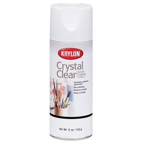 Krylon K01303A Crystal Clear Acrylic Coating Aerosol Spray, 6 Ounce