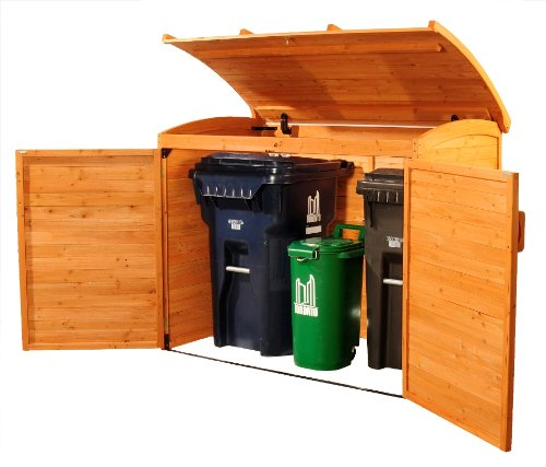 Leisure Season Horizontal Refuse Storage Shed, Solid Wood, Decay Resistant