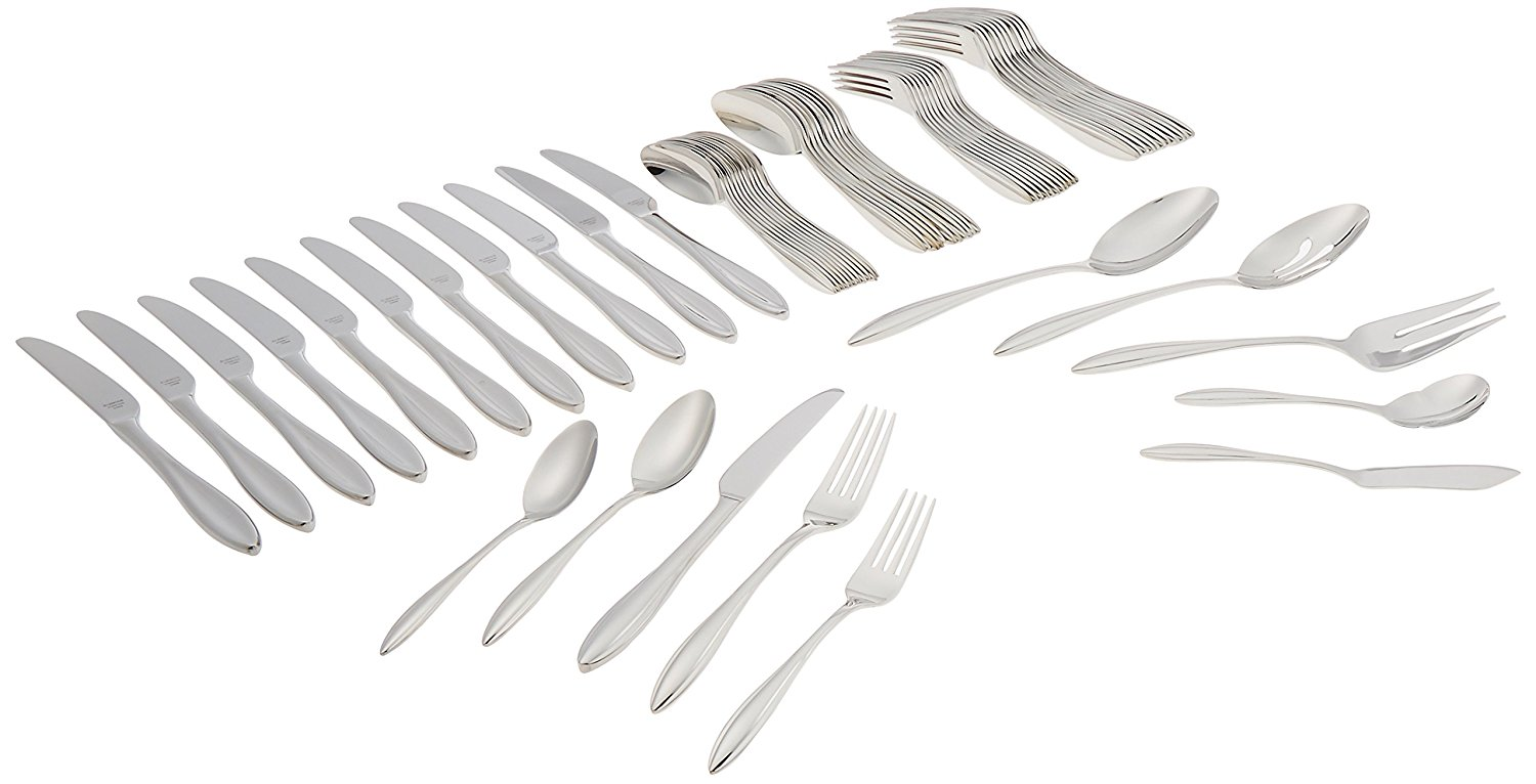 Lenox Sculpt 65-Piece 18/10 Stainless Flatware Set