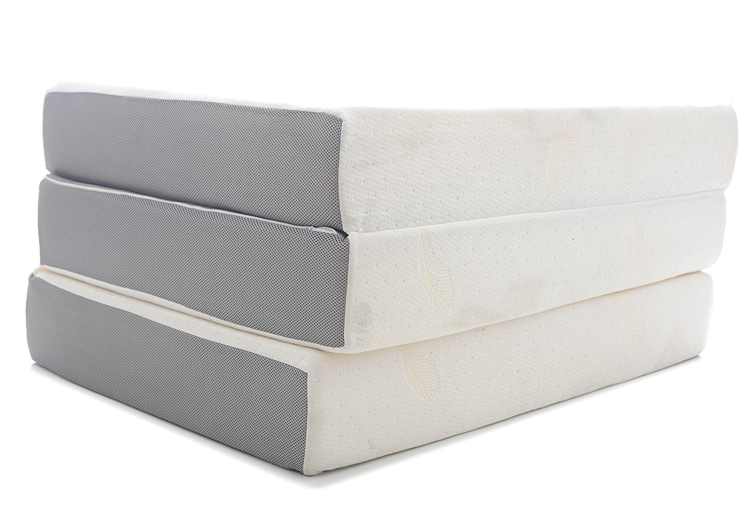 Milliard 6-Inch Memory Foam Tri-fold Mattress with Ultra Soft Removable Cover with Non-Slip Bottom - Twin
