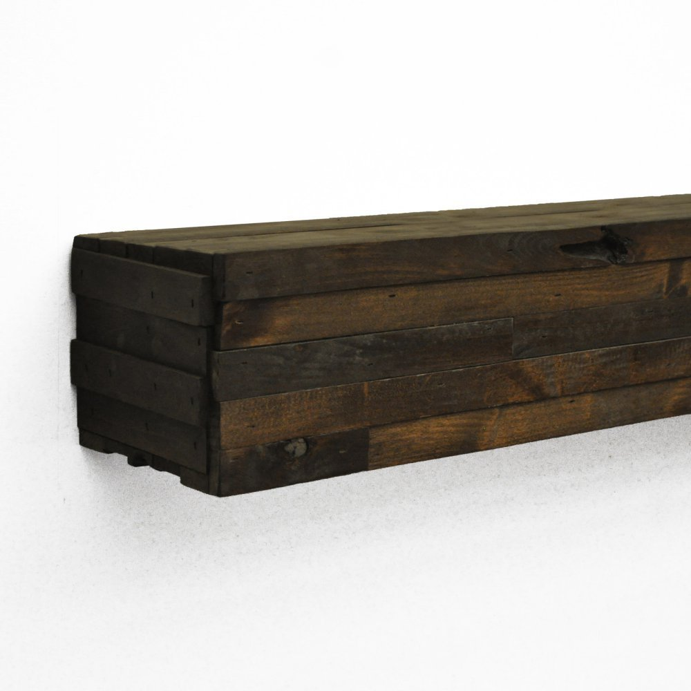 "Modern Fireplace Mantel Shelf Shelf Length: 72"" Length, Finish: Dark Chocolate"