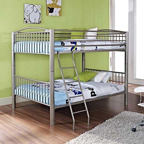 Powell Heavy Metal Full Over Full Bunk Bed