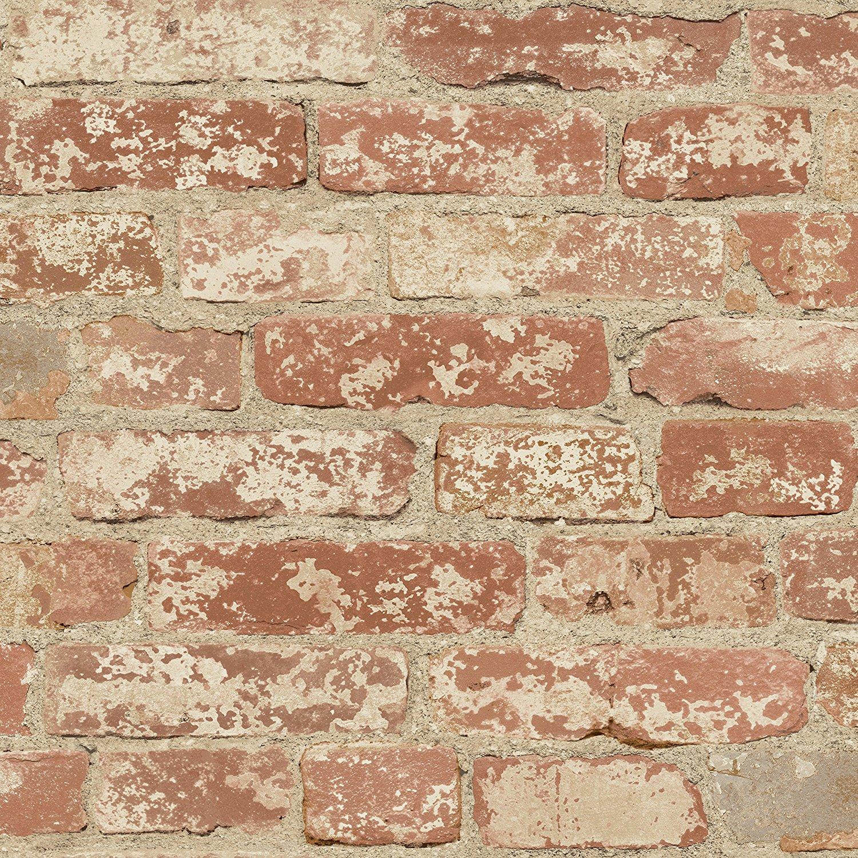 RoomMates RMK9035WP Stuccoed Red Brick Peel and Stick Wall Decor