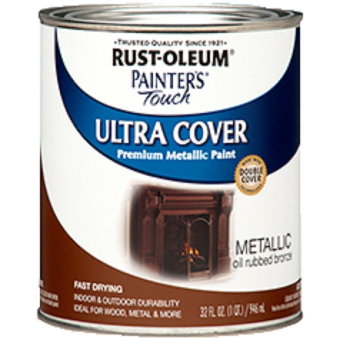 Rust-Oleum 254101 Painters Touch Quart Oil Based, Metallic Oil-Rubbed Bronze