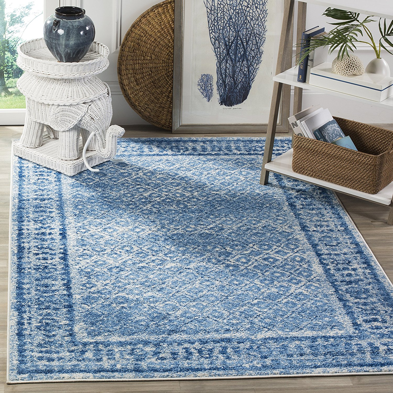 Safavieh Adirondack Collection ADR110D Silver and Blue Vintage Area Rug (8' x 10')