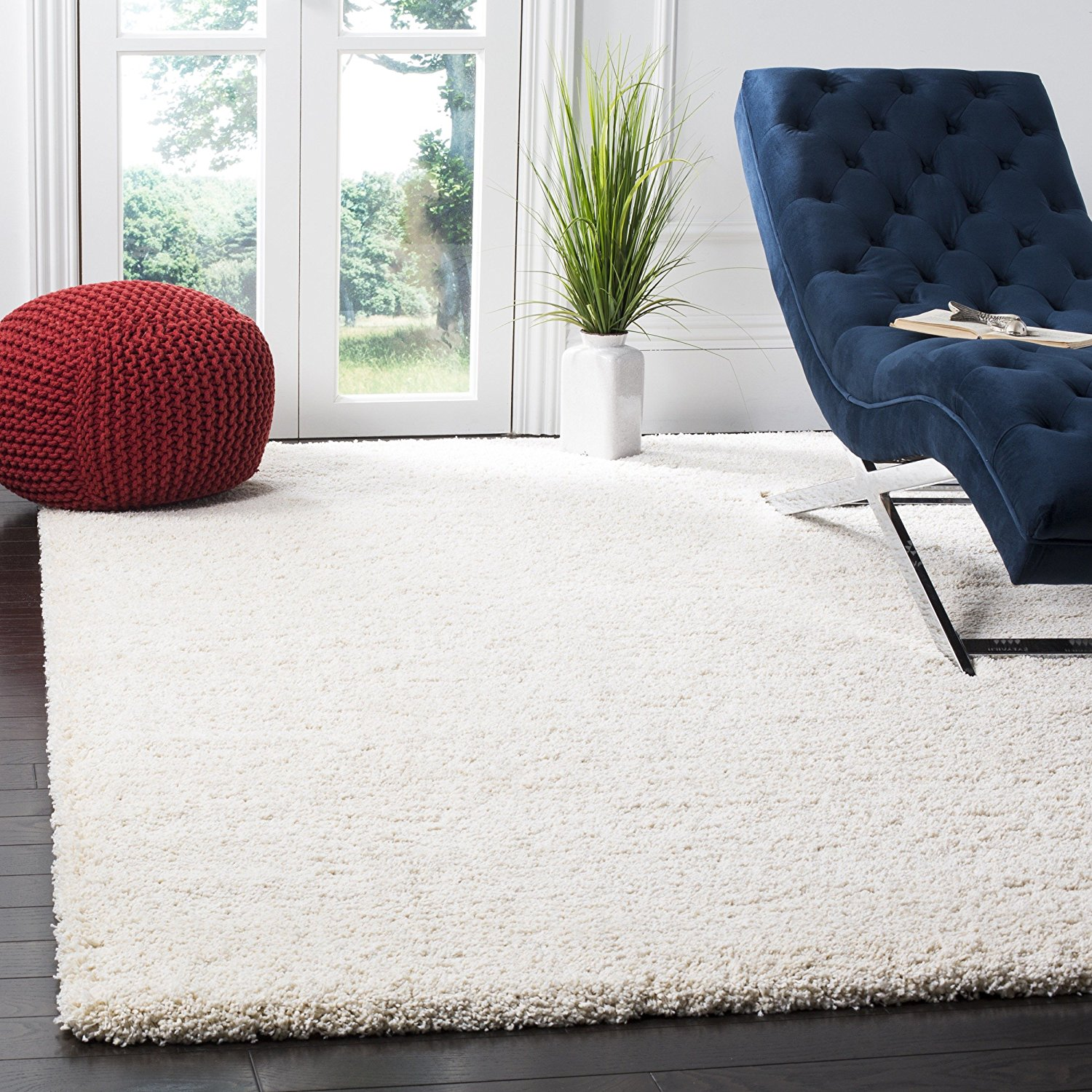 "Safavieh Milan Shag Collection SG180-1212 Ivory Area Rug (8'6"" x 12')"