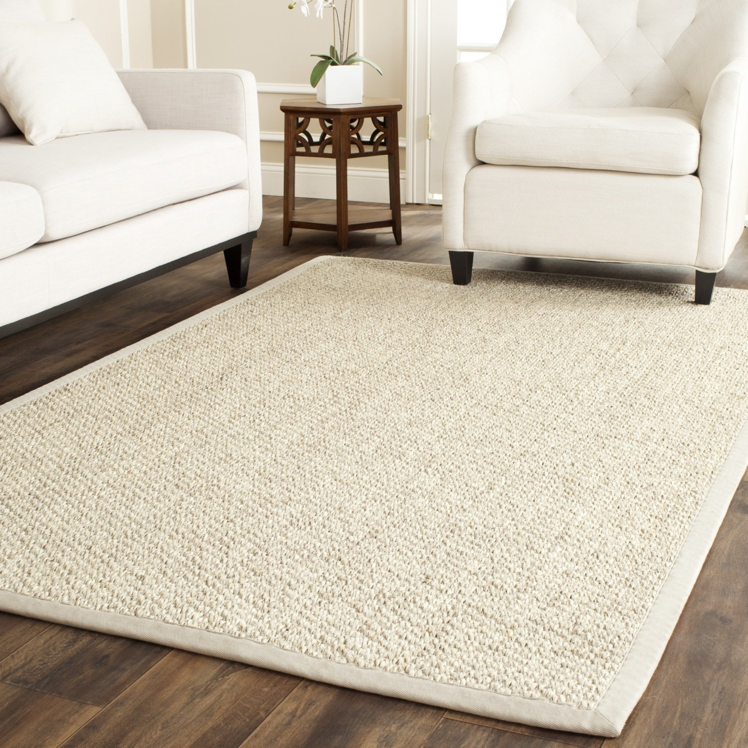 Safavieh Natural Fiber Collection NF525C Marble Sisal Area Rug (4' x 6')