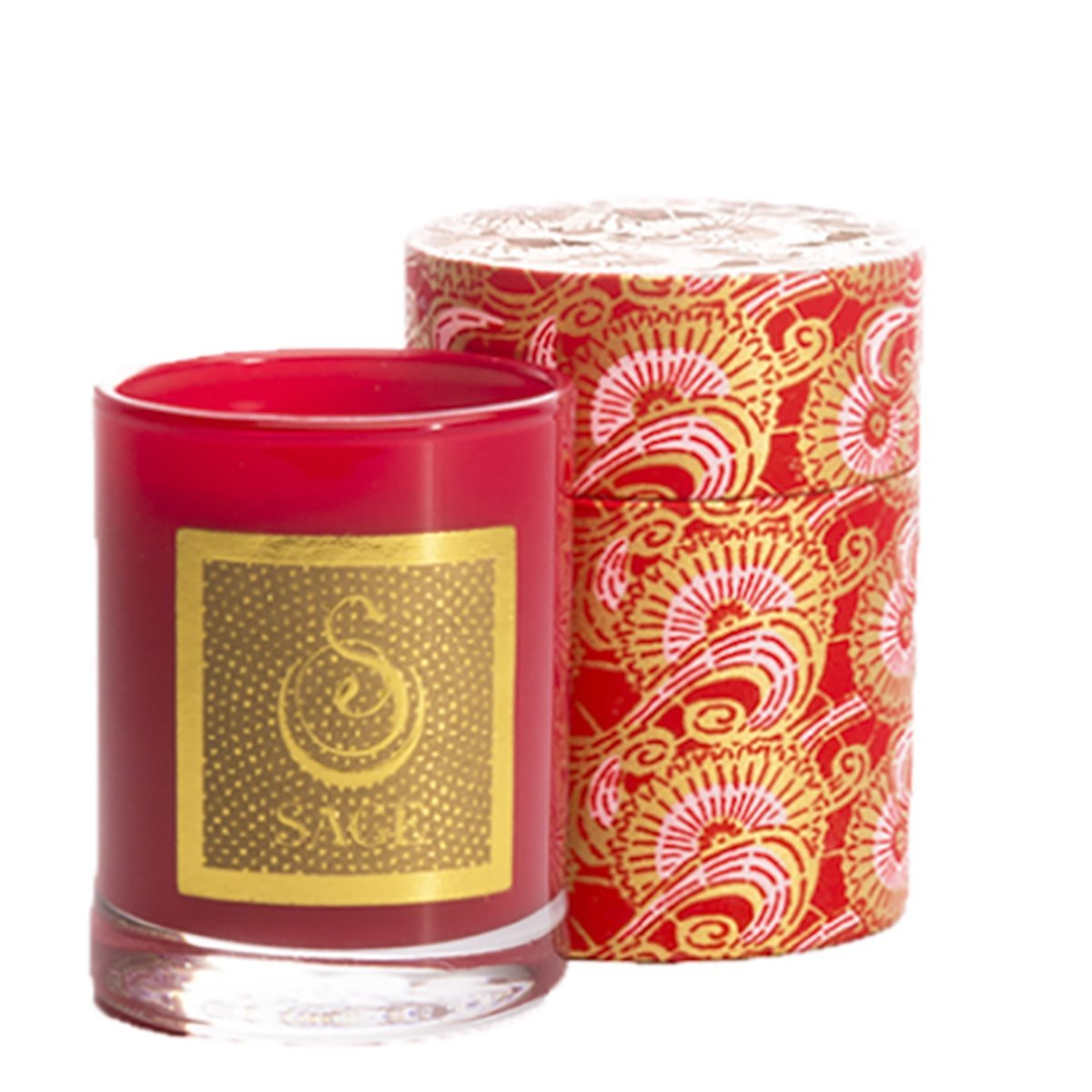Sage Decorative Scented Candle in Garnet