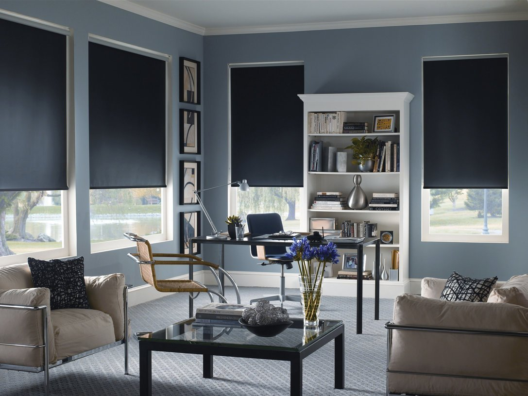 Shades 369 Custom Size Interior Roller Shades Inside Mount Window Width X Length (Espresso Blackout, 36x72)