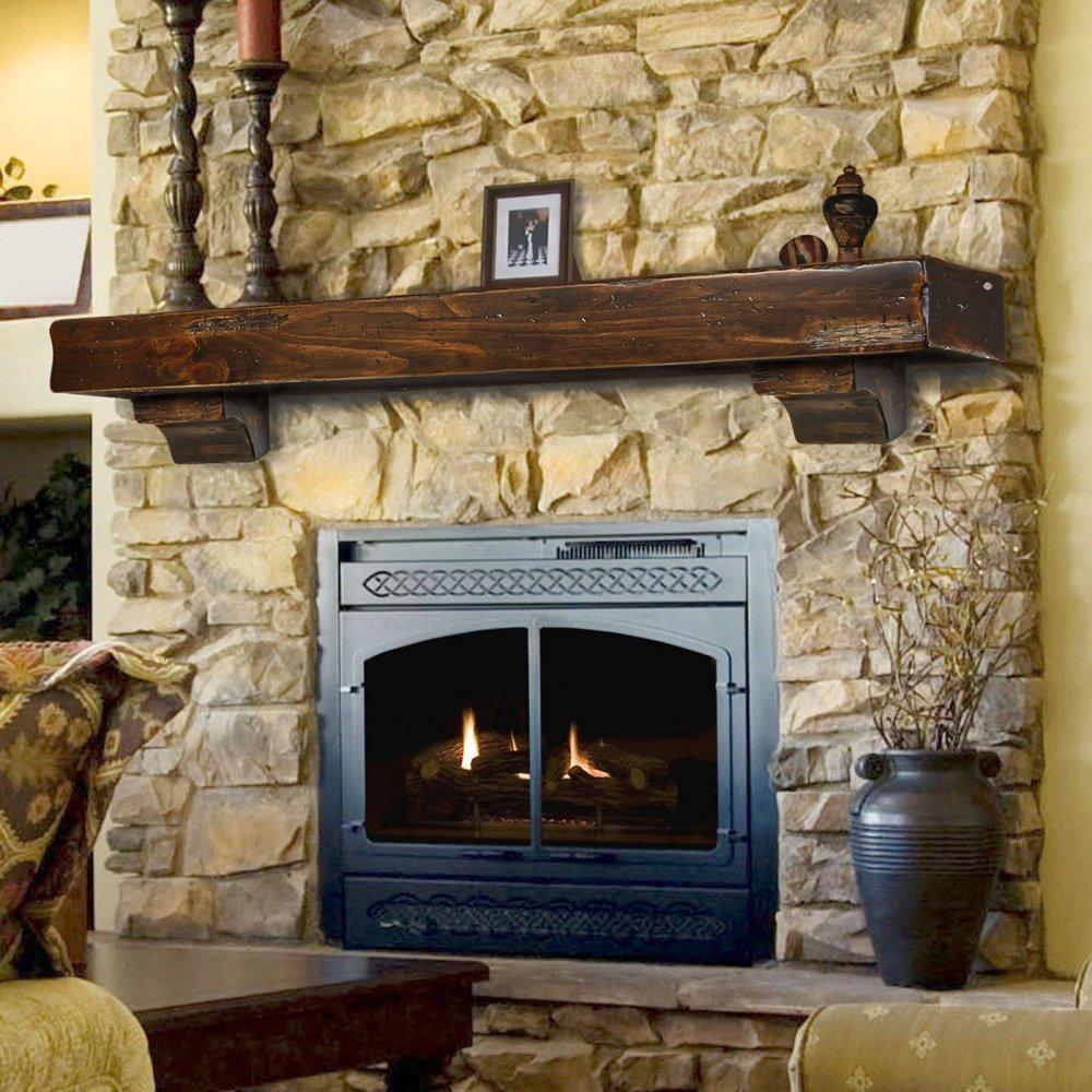 "Shenandoah Fireplace Mantel Shelf Finish: Espresso Distressed, Shelf Length: 60"""