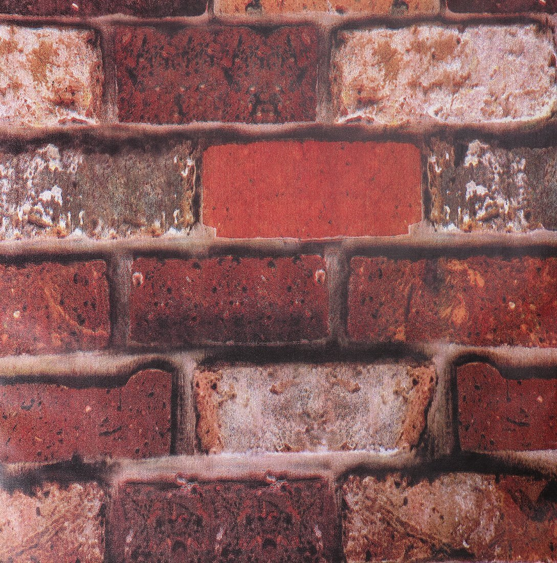 SiCoHome Brick Wallpaper Easy to Put Up Removable and Waterproof,no Residual, Realistic Look Exposed Brick Wallpaper for Home Bar Wall Decoration,17.7 inches by 32.8 feet(Brick Rust)