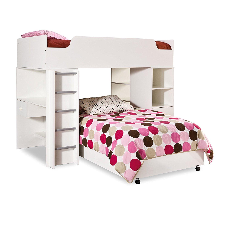 South Shore Complete Loft Bed, Logik/Sand Castle Collection, Pure White