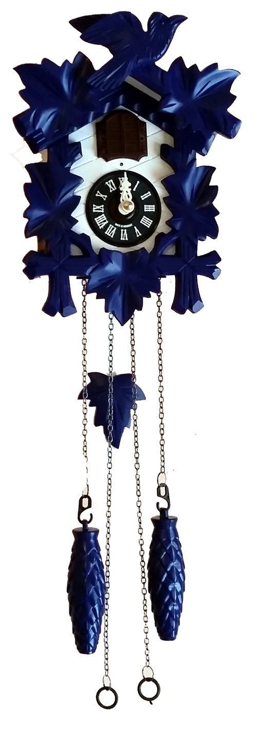 Sternreiter Quartz Cuckoo Clock - Blue/White