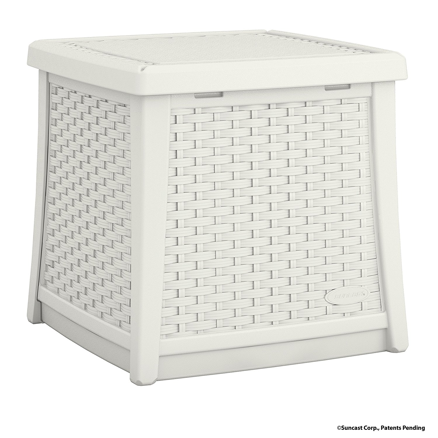 Suncast ELEMENTS End Table with Storage, White