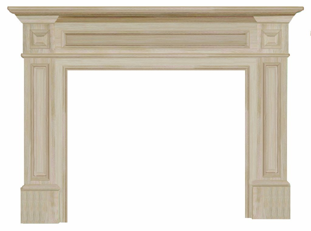 "The Classique 50"" Fireplace Mantel Unfinished"