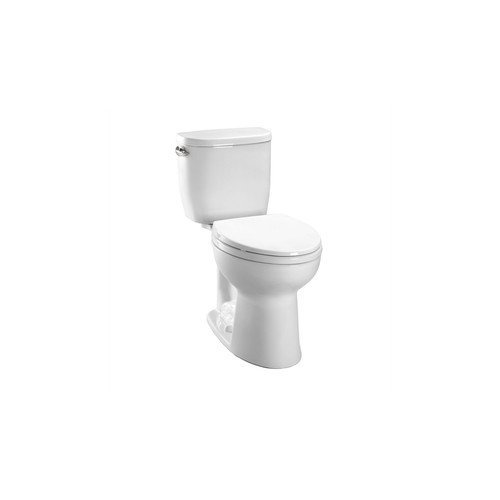 Toto CST243EF-01 Entrada 1.28GPF Round CalGreen Two-Piece Toilet, White