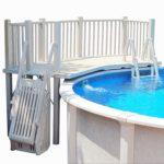 Vinyl Works Above Ground Swimming Pool Resin Deck Kit - Taupe 5 x 13.5 Feet
