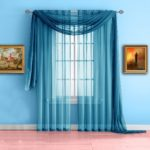 Warm Home Designs Turquoise Blue Sheer Window Curtains. Each Voile Drape Is 56 X 63 Inches. Great for Kitchen, Living Room, Kids Bedroom or Office. 2 Fabric Panels Per Package. Color: Turquoise 63""