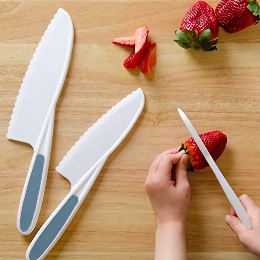 3-Piece kid friendly knives (kids safe plastic nylon knife)