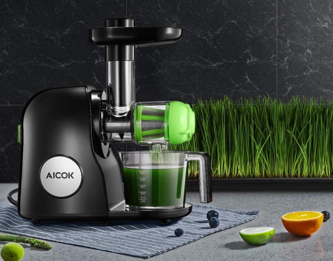 Aicok Slow Masticating Juicer Extractor (Classic Black)