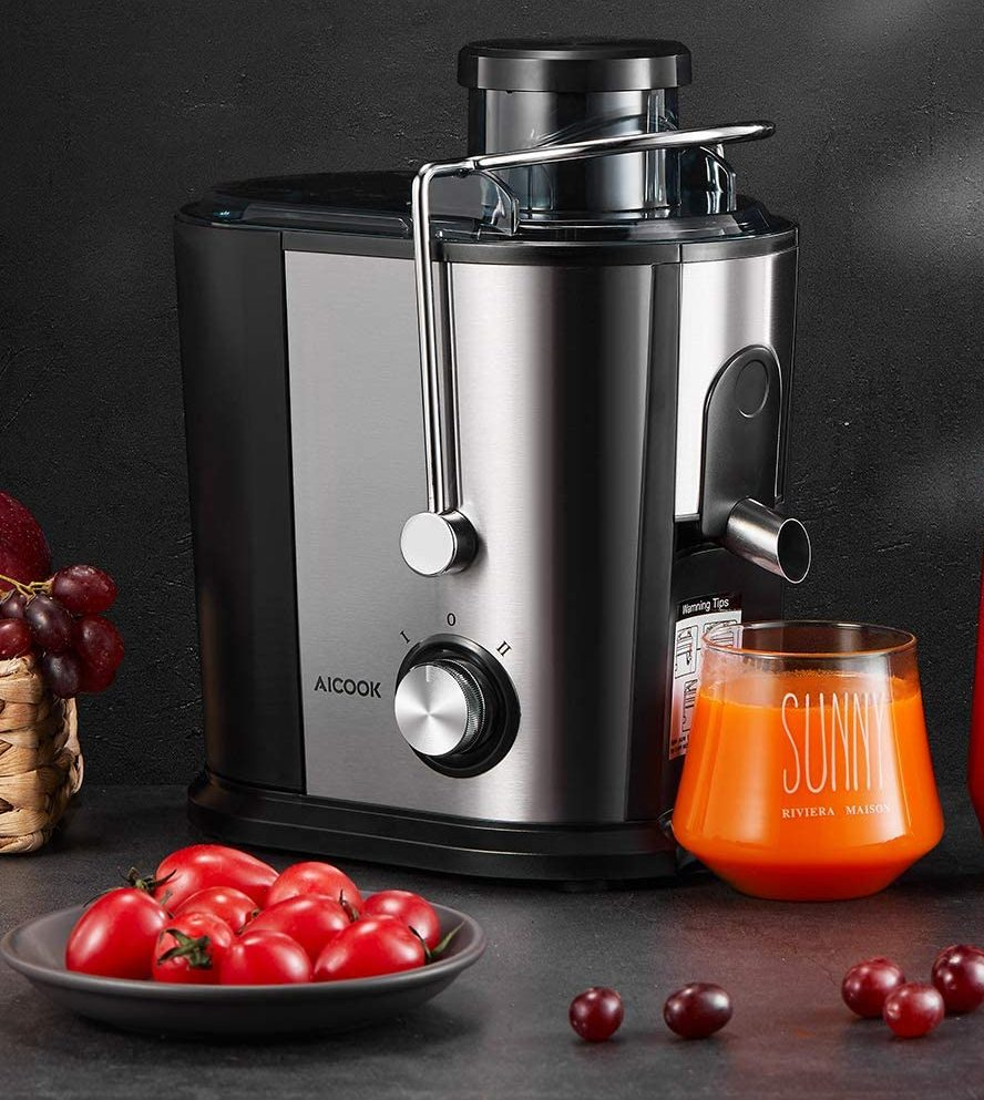 Aicook Compact BPA-Free Juicer Machines for Vegetables and Fruits