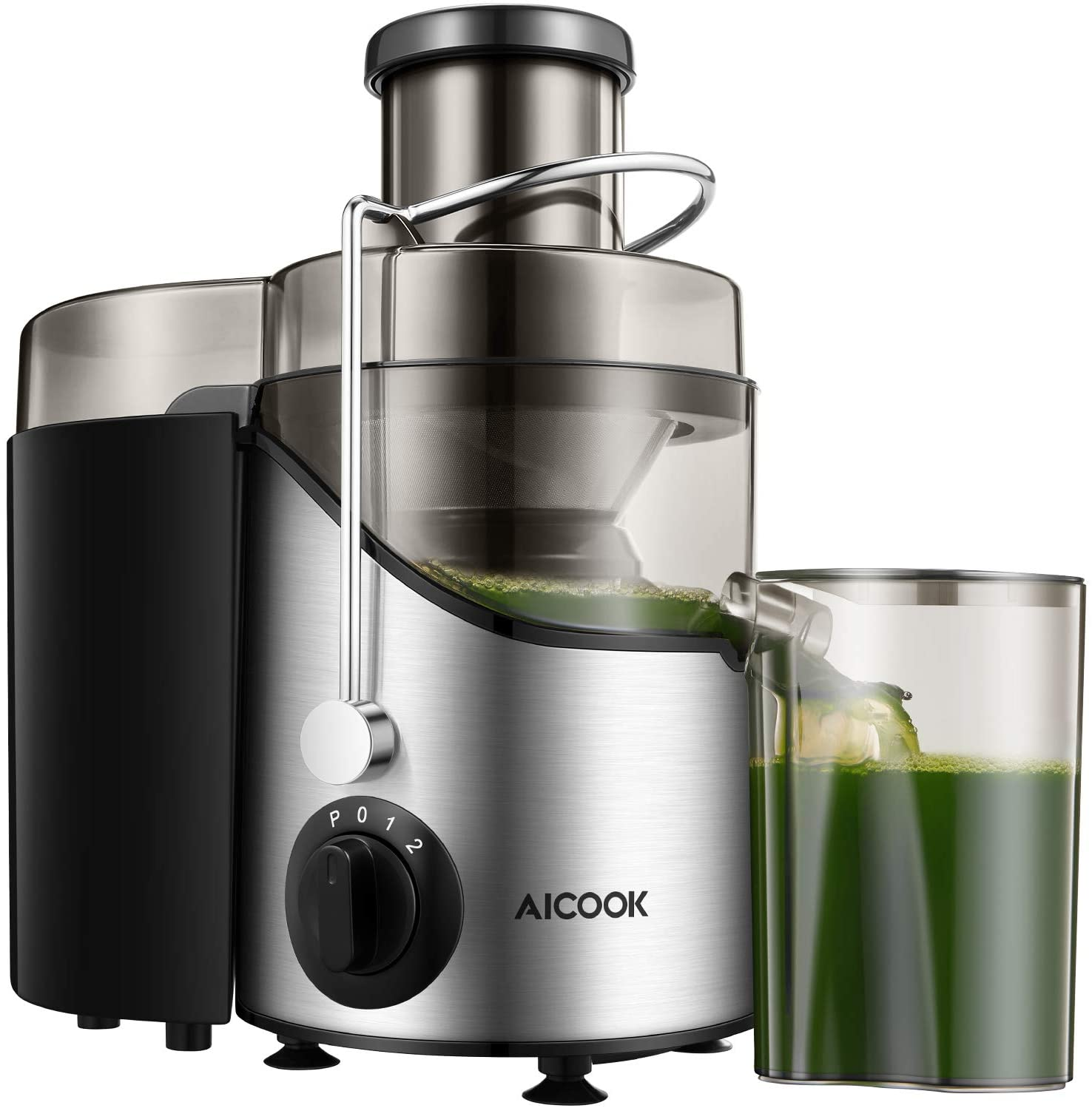 Aicook Juicer Machine with 3 Speed Centrifugal for Fruits and Vegs (with 3-inch Wide Mouth)