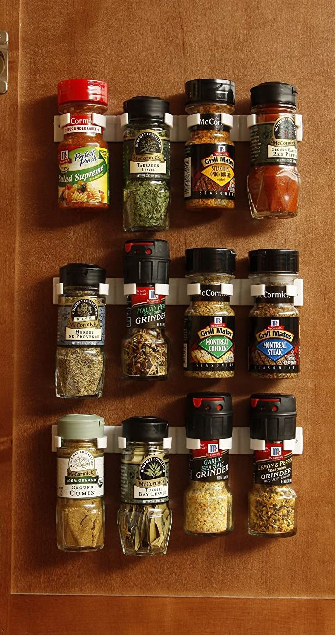 Bellemain Spice Gripper Set of 3 Clip Strips for Plastic Jars (Holds up to 12 Jars)