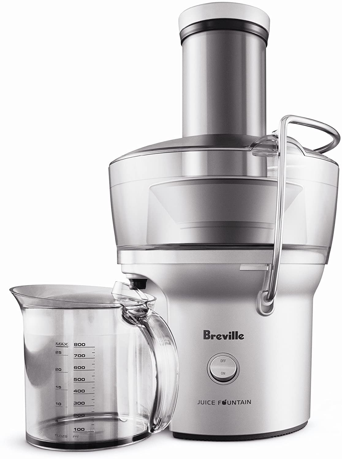 Breville BJE200XL Silver Juice Fountain, Compact Centrifugal Juicer